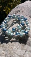 White And Blue Pearl Memory Bracelet by Rini-Dragoone