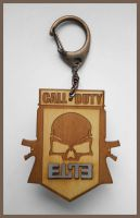 CALL OF DUTY - wood keyring by Piciuu