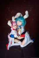 Cowardly rabbits by AGflower