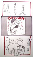 BBC Sherlock comic: Bro-Hug,the 5 second challenge by Graphitekind