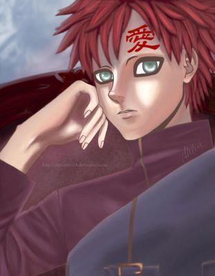 Gaara, portrait of a kage by chocobo124