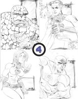 SKETCH Fantastic Four by thejeremydale