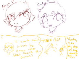 Tdi Noah And Cody Sketches And Rant Thing by dovepaw3000