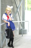 Rin Kagamine School Uniform Cosplay by Lycorisa