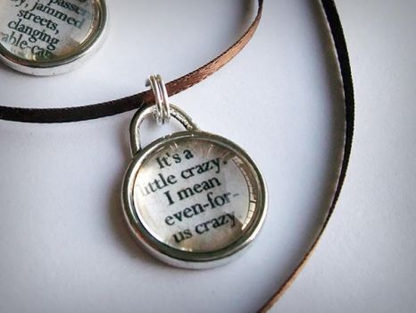 Supernatural Quote Glass Cab Pendant by ldhenson