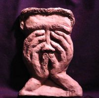 Going Within Clay Sculpture by mertonparrish