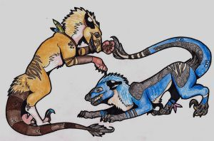 AT: Scar and Blackey by elsarose