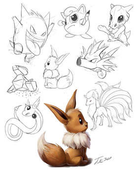 Pokemon Sketches by Tsitra360