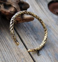 Twisted Brass Bracelet - OOAK by DreamingDragonDesign