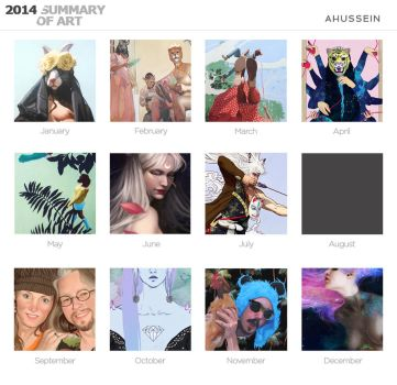 2014 Summary of Art by AHussein