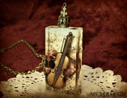 Encased Violin Necklace by Necrosarium