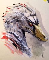 Velociraptor color sketch by dustdevil