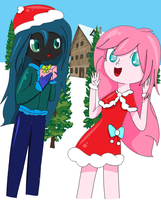 fluffle puff and chrissi christmas EG contest by foxxy00candy