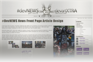 #DevNEWS Front Page Design by GillianIvy