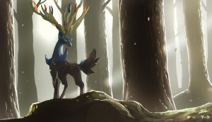Pokemon: Xerneas by mark331