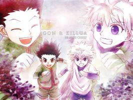 Gon n Killua!!!!! by Reddlire