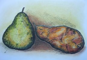 Two pears by LasmejaLora