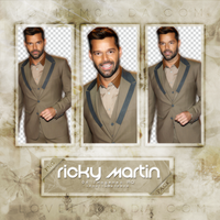 RICKY MARTIN PNG Pack #1 by LoveEm08