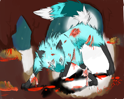 art trade, freeze-ice-fox by Scorched-FoxFire