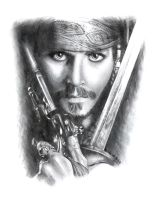 -Captain Jack Sparrow- by MadziaVelMadzik