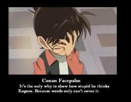 Conan facepalm by wolfjmk