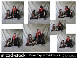 Pirate Captain and Child Pack4 by mizzd-stock