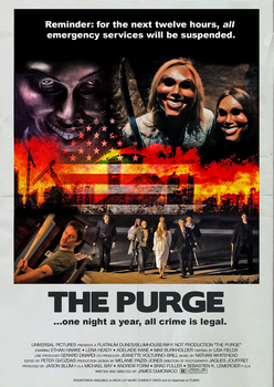 The Purge Movie Poster (1980s Version) by FearOfTheBlackWolf