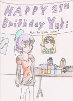 Happy B-day Yuki by lillyfoot15