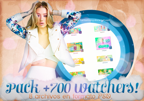+PACK +700 WATCHERS | 8 ARCHIVOS EN PSD by turnlastsong