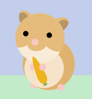 Hamster with a Carrot by JRHill