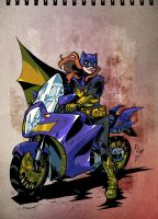 Bat Girl Bike by weremole