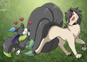 Tail Cling by blackpersian