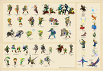 History of Link Poster (Updated...Again) by Badwolf101
