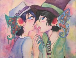 He Tastes Like You by TheTweedleTwins