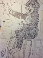 King Kong (My style) by creecreehoneybees