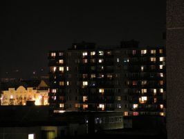 Residential area at night by Realszoc75