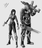 Clan leadership squad White Wolves by scorp106