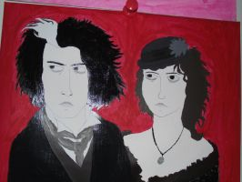Sweeney Todd and Mrs lovett by TheSimpsonsFanGirl