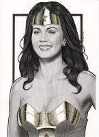 Lynda Carter Modern Day Wonder Woman (Portrait) by Promethean-Arts
