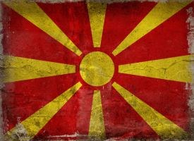 Macedonia Flag Grunge by xxoblivionxx