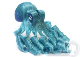 Teal and Blue Octopus by deeed