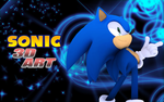 Sonic 3D Art Logo by Mike9711