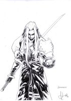Sephiroth_lineart by scabrouspencil