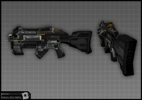 Concept Art RIDDICK AoDA - Assault rifle by torvenius