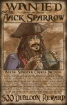 Wanted - Jack Sparrow by zimmay