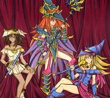 Yugioh: Three Magician Girls by Yamigirl21
