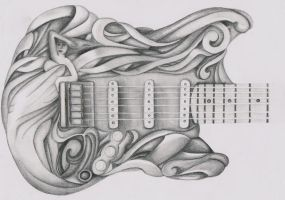 Guitar Detail by EvanescentLaycrimose