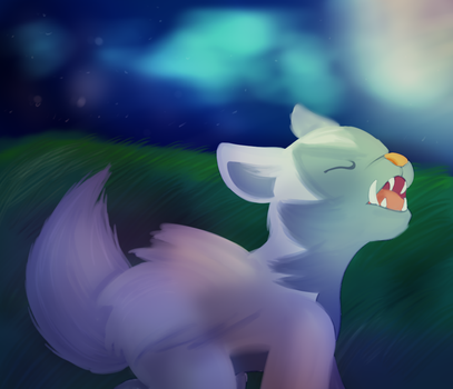 Remake: Howling at the Moon by ACLuigiYoshi