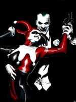 Alex Ross Joker and Harley by Lorredelious