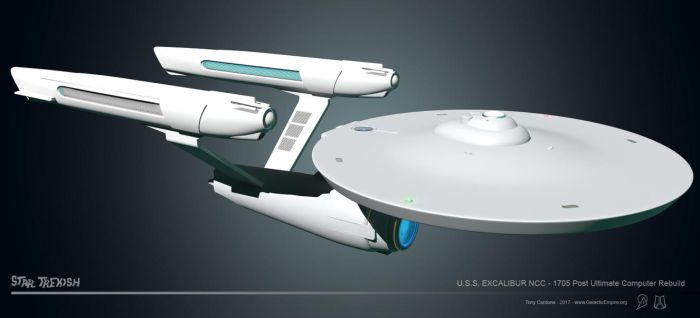 USS Excalibur NCC 1705 WIP 021 by LordSarvain